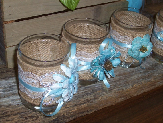 Items similar to votive holder glass candle wedding