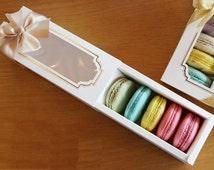 10 Window Macaron boxes (5 holding type)