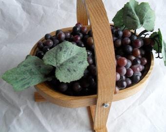 Oak Basket Hot Pad Plate Fruit Basket Table Decor
