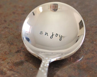 Enjoy Silver Plate Stamped Spoon Mother's Day - Beautiful Roses