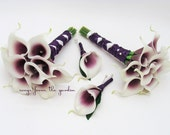 Wedding Bouquets Real Touch Picasso Calla Lily Bridesmaids Bouquets Choose Your Wedding Colors