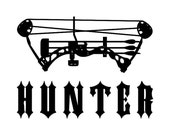 Bow Hunter - Car Decal - Vinyl Car Decals, Window Decal, Signage, Hunting Decor, Hunting Gifts, Hunting Decal, Bow Hunting, Compound Bow