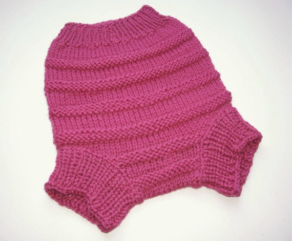 Hand Knitted Wool Cloth Diaper Cover Soaker Wool Nappy Cover  Baby Diaper Cover Knit Cloth Diaper size Large12-18 Months