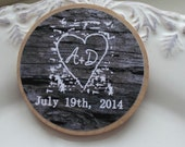 Wedding Favor Wood Magnets-40 Custom colors Save the date made to order  rustic  wedding