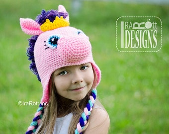 CROCHET PATTERN Circus Pony Hat PDF Crochet Pattern Instant Download