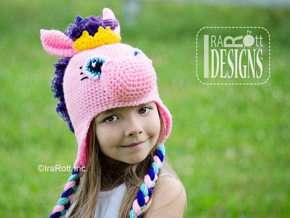 Crochet Pony Hat Pattern Crochet Pattern Circus Pony