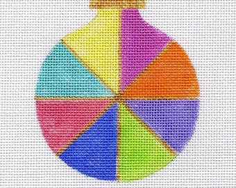 Pinwheel Pastel Needlepoint Ornament - Jody Designs - B155B