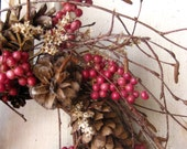 Nordic Natural Winter Wreath - Small Wreath - Gift - Natural Wreath