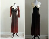 Vintage 1940's satin maxi dress with matching jacket / 40's dress / 28 waist