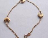 14K Gold Padlock Bracelet - Italy - Italian Gold