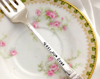 Personalized Hand Stamped Forks by Blithe Vintage
