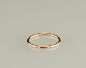 ONE ring, 10kt solid gold, Rose gold, yellow gold, white gold- 18g, stacking rings, thin band, wedding, engagement,