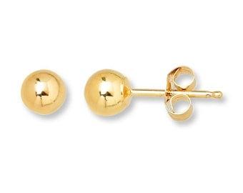 SALE 14K Yellow Gold Fill Ball Stud Earrings