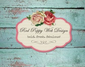 Aqua Wood Banners, Premade Etsy Shop Set, Vintage Roses, Chic Banner Set, Premade Avatar, Store Banners, Vintage Banners, Rustic Chic Aqua