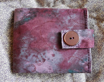 Womens Wallet - soft rose and grey - coin pocket FREE SHIPPING