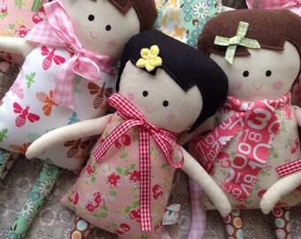 Black Apple Doll.  Soft doll Plush.
