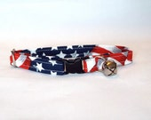 USA Flag Fabric Kitty Collar
