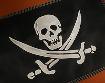 Jolly Roger Pirate Flag Banner for Sailboat Man Cave