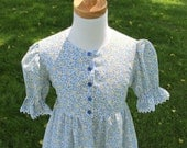 Calico Summer Dress w/ Front Closure Size 2-12