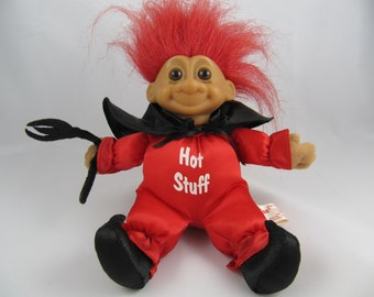"Vintage Devil Troll Doll Russ ""Hot Stuff"", Soft Body, Valentine's, Item No. 1811"