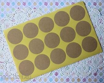 150 Round Kraft Stickers (3.5cm) - Round Label - Seal Sticker - Ready to Ship.