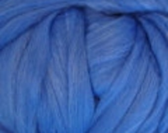 Cobalt Merino Tussah Silk Blend Ashland Bay Lux Roving