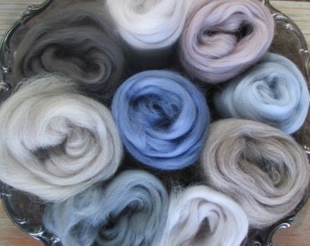 Ashland Bay Expanded GRAYS Merino Collection for Spinners and Felters