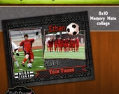 8x10 Memory Mate GOAL Soccer Collage or Storyboard Now Available for INSTANT download  PSD Template