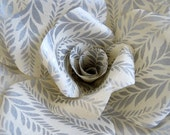 SILVER LEAVES giant paper wall rose - wall decor wall art paper sculpture - Flower Taxidermy No.62