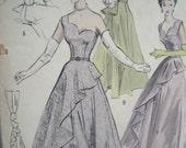 Sale - Beautiful Vintage Butterick 5312 Bouffant Evening Gown Dress Size 14 Sewing Pattern