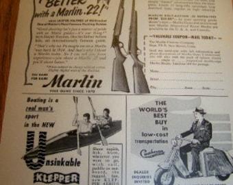 Marlin Rifels ad Cushman motor works inc ad circa 1951
