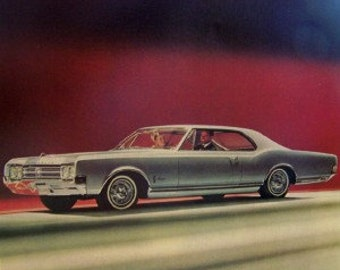 1965 Oldsmobile Starfire The rocket action car Detroit Michigan  advertisement 7 1/2 x 10 as found