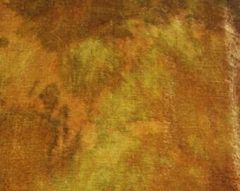 Velvet, hand-dyed silk-backed rayon velvet, Earth Gold
