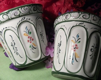 HANDPAINTED PORCELAIN WALL sconces