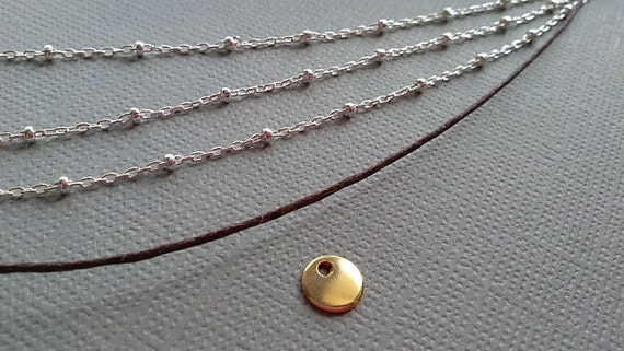 RESERVE listing for GRACE -  three strand necklace plus cord - four charms