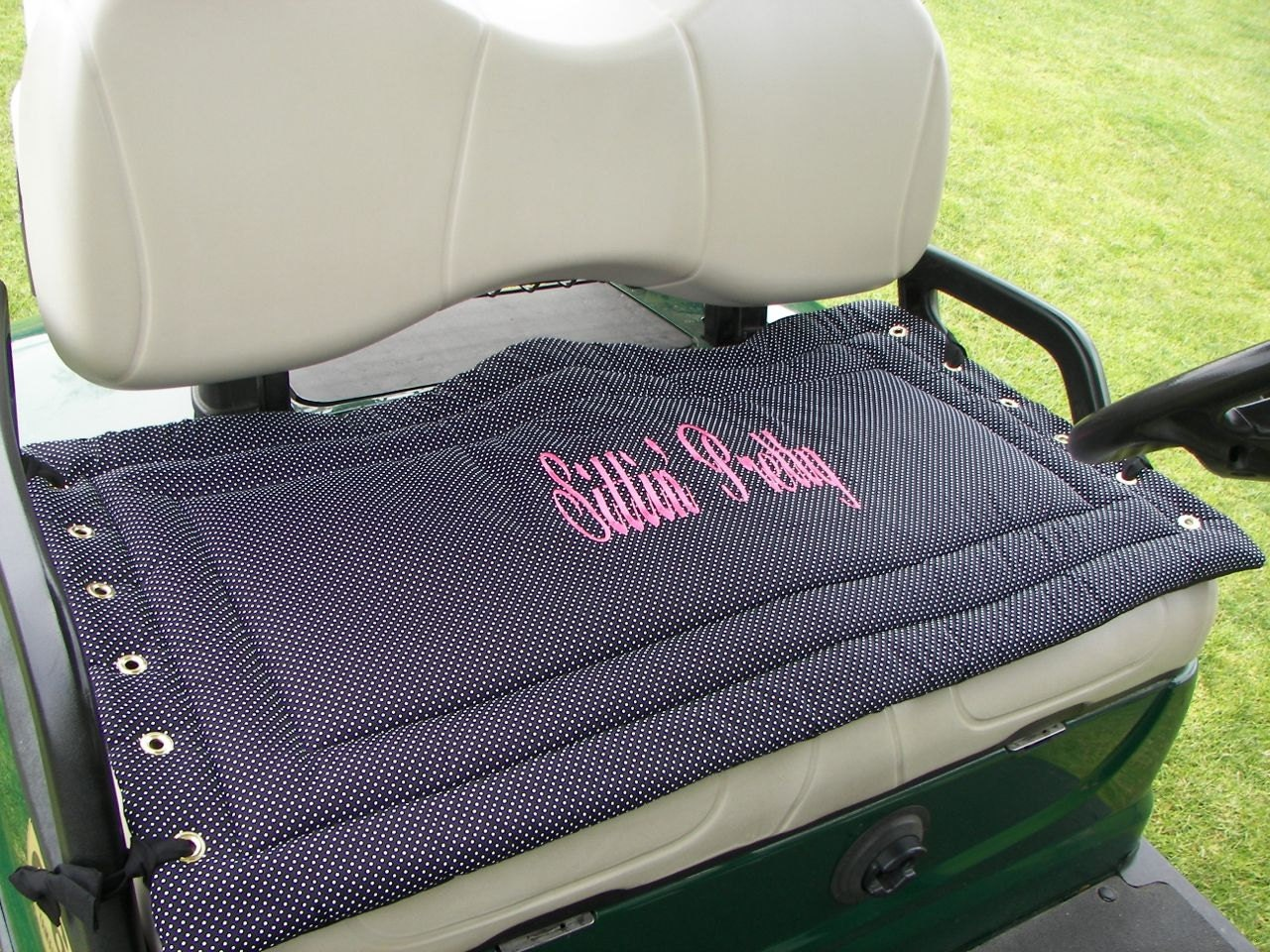 Personalized Golf Cart Seat Cover A By Sittinprettycovers