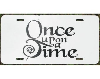 Fairy Tale Once Upon a Time License Plate Booklover Princess Car Tag