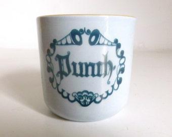 Mid Century DENMARK Knabstrup Pottery Punch Cup