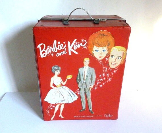 Mid Century C 1964 Barbie And Ken Doll Carrying Case Teen Age