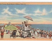 8th Ave Beach Scene Asbury Park New Jersey postcard