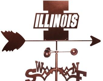 Hand Made Illinois Illini Weathervane New