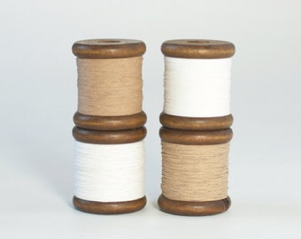 Finest Paper Yarn on a Wooden Bobbin (230 yards / 210m) - Knit, Crochet, DIY, Crafts
