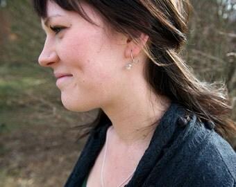 Poppy Pod Hoops -- Flower Earrings -- Botanical Jewelry -- Nature Cast -- Ready to Ship