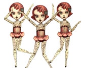 Last in Stock You Are So Special - The Amazing Tattooed Girl - fully assembled articulated paper doll by Mab Graves