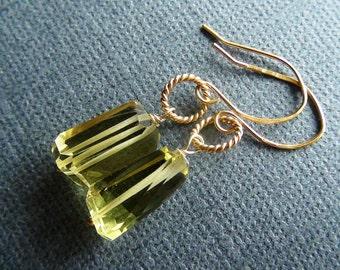 24K Gold Vermeil Lemon Quartz Earrings
