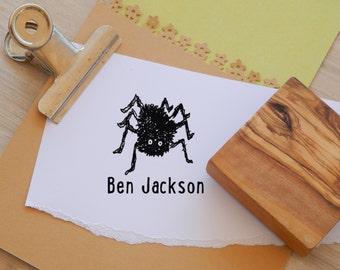 Custom Hairy Spider Olive Wood Stamp