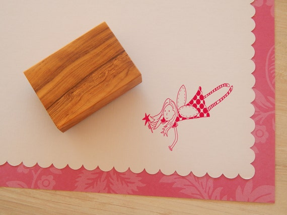 Dotty Fairy Olive Wood Stamp