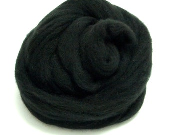 10g Super Fast felting Short Fiber Wool Perfect in Needle Felt and Wet Felt Black V708