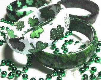 St Patrick's Day Bracelet - Shamrock Jewelry - St Patrick's Day Jewelry - Green Bracelet - Good Luck Bracelet - Clover Jewelry