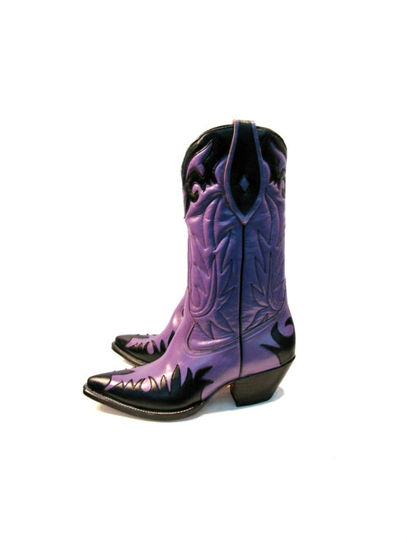 Lastest Purple Cowboy Boots For Girls  2017 Western Cowgirl Boots